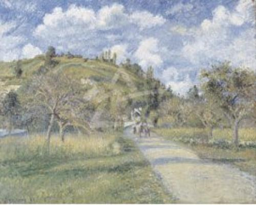 The Highway, 1880 by Camille Pissarro