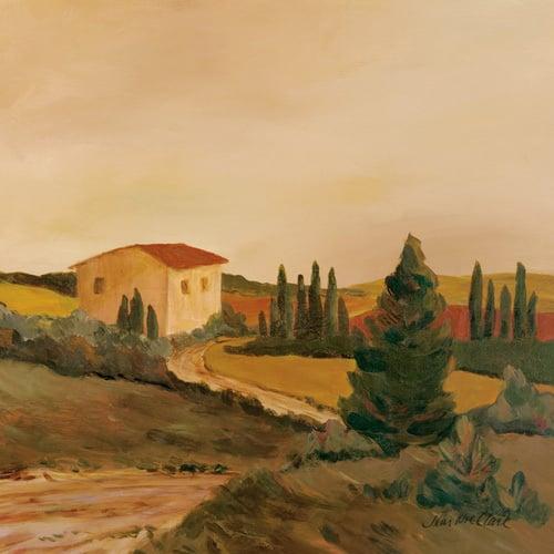Sunny Tuscan Fields by Joe Clark
