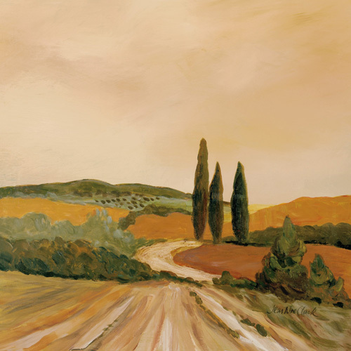 Shady Tuscan Fields by Jean Clark