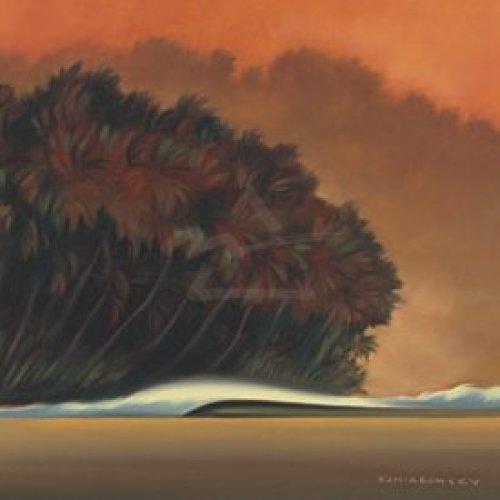 Under a Red Sky I by Koniakowsky