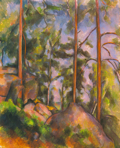 Pines and Rocks (Fontainebleau), c. 1897 by Paul Cezanne