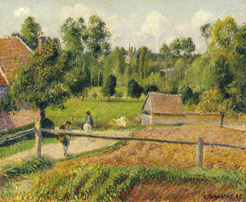 View from the Artist's Window, Eragny by Camille Pissarro