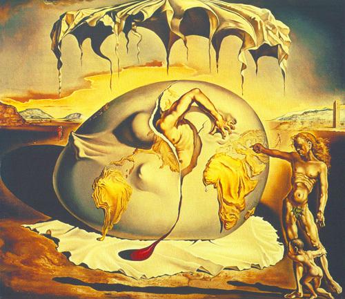 Geopoliticus by Salvador Dali