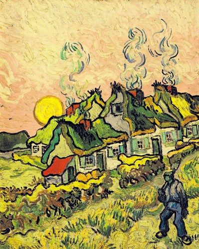 House and Figure, 1890 by Vincent Van Gogh