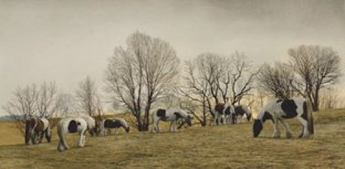 Gypsies Grazing by Peter Sculthorpe