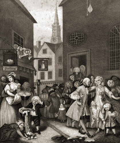 Noon in London streets by William Hogarth