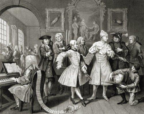 The Rake's Progress, The Levee by William Hogarth