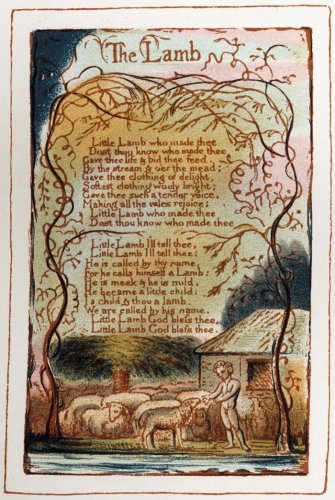 A page from 'Songs of Innocence' designed and written by William Blake by William Blake
