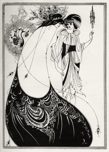 The Peacock Skirt, Salome by Oscar Wilde by Aubrey Beardsley