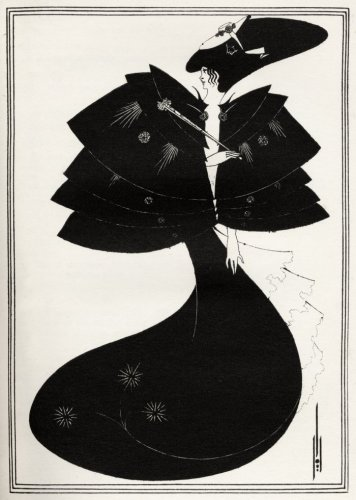 The Black Cape, Salome, by Oscar Wilde by Aubrey Beardsley