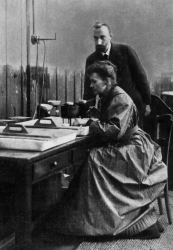 Pierre Curie and Marie Curie by Anonymous