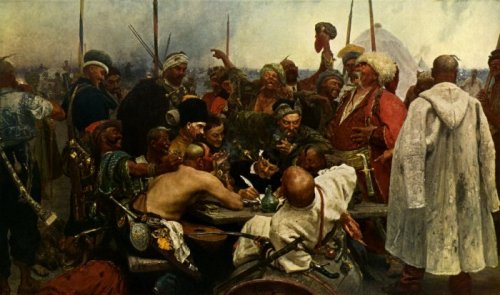 'Reply of the Zaporozhian Cossacks', 1891 by Ilya Efimovich Repin