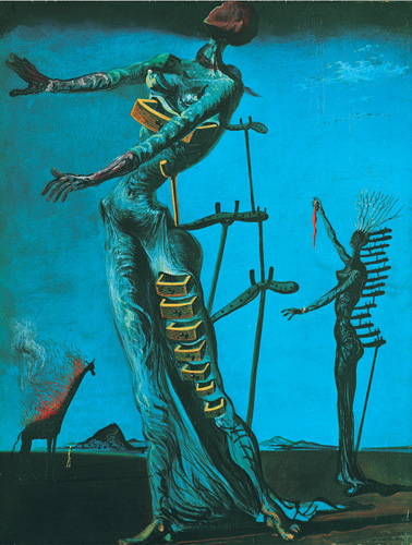 Giraffe on fire by Salvador Dali