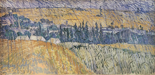 Rain at Auvers by Vincent Van Gogh