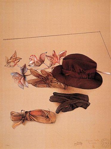 Natura morta con cappello by Bruno Bruni