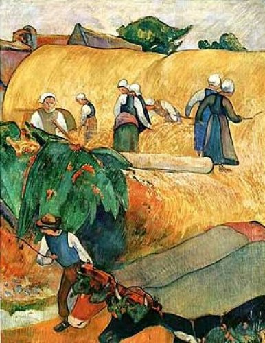 Hay Harvest by Paul Gauguin