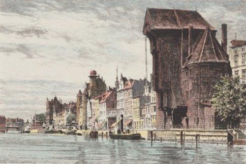 Danzig, Lange Brücke by Bruck