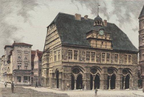 Minden, Rathaus by Bruck