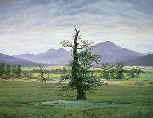 Der einsame Baum by Caspar David Friedrich