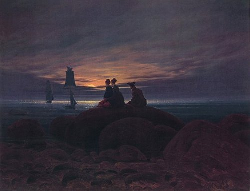 Mondaufgang am Meer by Caspar David Friedrich