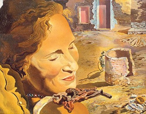 Gala with Chops by Salvador Dali