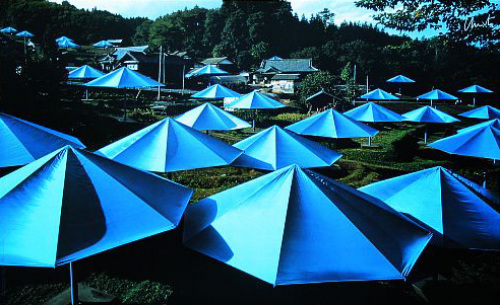 Umbrellas Blue XII, 1991 by Javacheff Christo