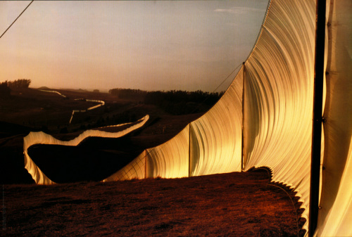 Running Fence Nr. 4 (1976) by Javacheff Christo
