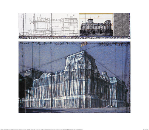 Reichstag IV by Javacheff Christo