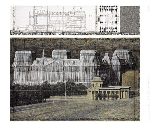 Reichstag VI by Javacheff Christo