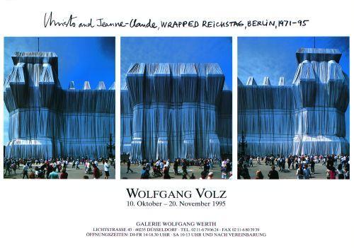 Reichstag Westfassade Triptychon by Javacheff Christo