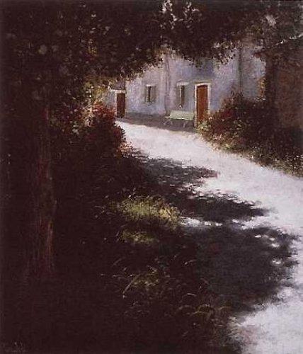 Die Dorfstraße by Lutz Münzfeld