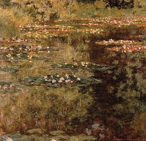Pool with waterlilies by Claude Monet
