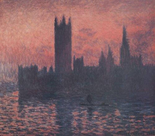 Sunset by Claude Monet