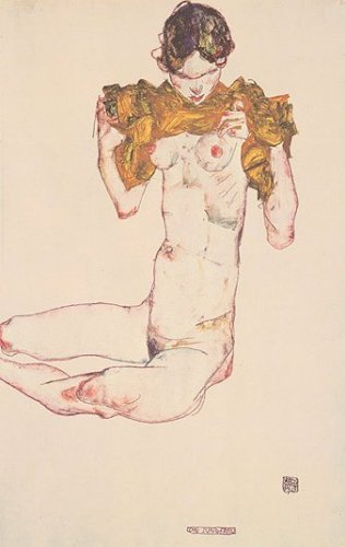 Die Jungfrau by Egon Schiele
