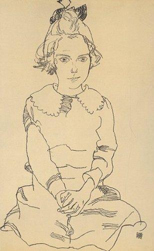 Mädchenbildnis by Egon Schiele