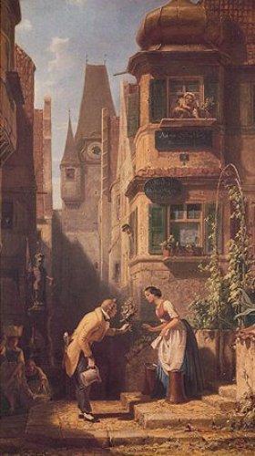 Ewiger Hochzeiter by Carl Spitzweg