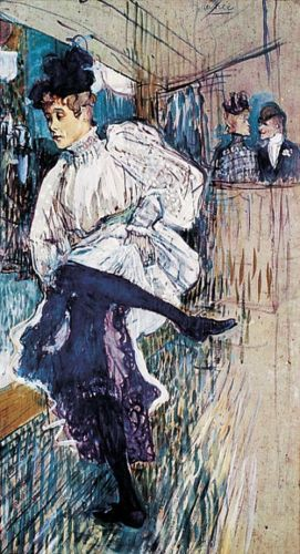 Jane Avril dancing by Henri de Toulouse-Lautrec