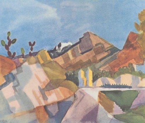 Felsige Landschaft by August Macke