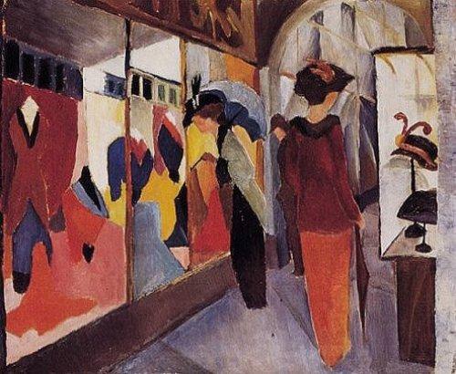 Modegeschäft by August Macke