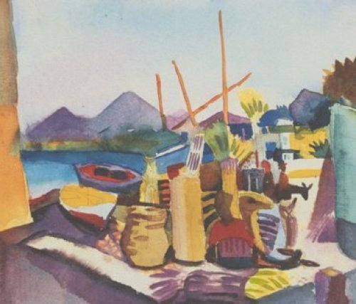 Landschaft bei Hammamet (1914) by August Macke