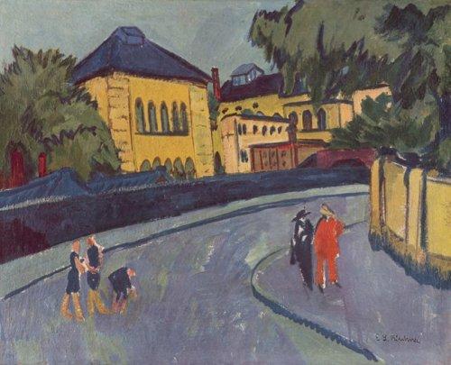 Dresden (Friedrichstadt 1909) by Ernst Ludwig Kirchner