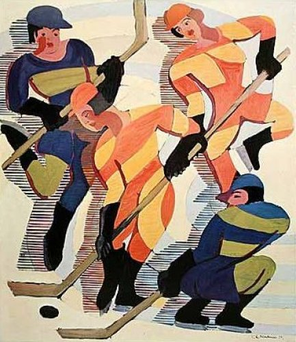 Hockey Players by Ernst Ludwig Kirchner