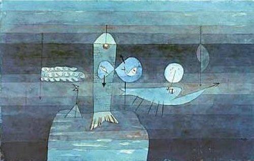 Guter Fischplatz by Paul Klee