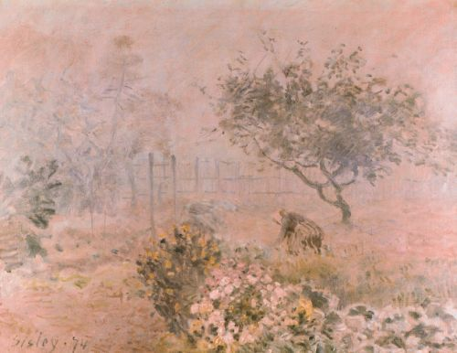 In the Morning Mist by Alfred Sisley