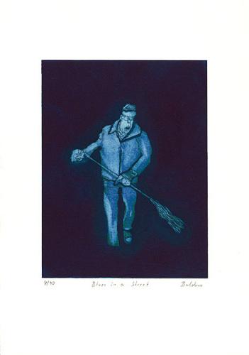 Blues in a Street by Bernd Baldus