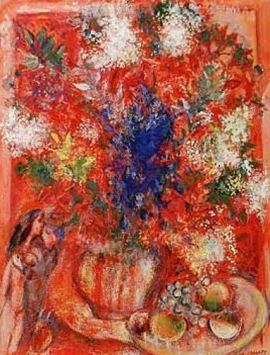The Red Flowers by Marc Chagall