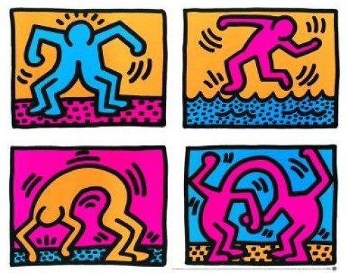 Pop Shop Quad II (1988) by Keith Haring