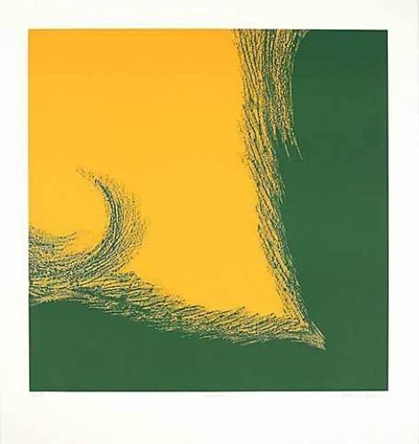 Dualität I (Grün,Gelb) by Paul Nievergelt