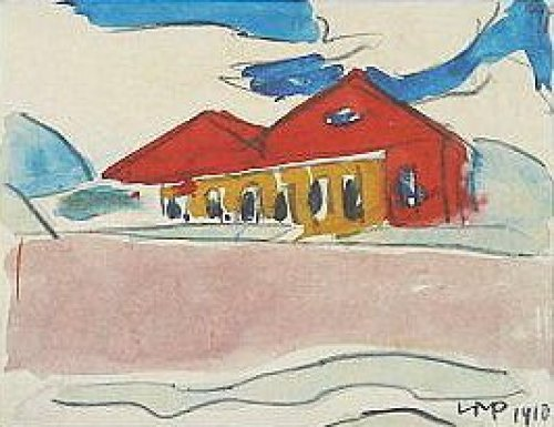 Haus am Strand (1910) by Max Pechstein