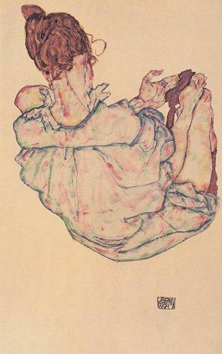 Sitzende Frau von Oben by Egon Schiele